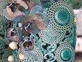 Krásna ozdobná keramika v zelenej farbe