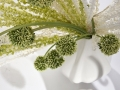 Bielo-zelená dekorácia