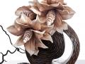 Dekoratíbny kvet , ozdobná váza MADERA