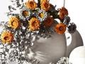 Drobné kvetinky  žlté a biele