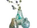 Zelené vázy zo skla