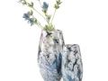 Modré vázy zo skla
