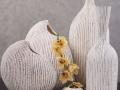 Keramika biela LAURO váza , svietnik