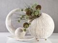 Keramika LAURO bielo-zlatá