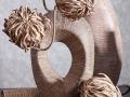 Keramika MAJORKA hnedá s ozdobným kvetom