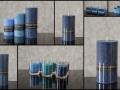 Sviečky modré v rôznych veľkostiach