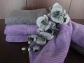 Klasické uteráky fialové a sivé