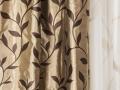Klasický záves zlato hnedý listy