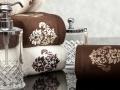 Uteráky s barokovým vzorom ... hnedá a krémová