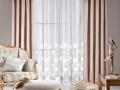 Nádherná záclona s bielými tulipánmi