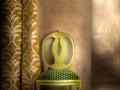 Klasická dekoračná látka RUSTIC zelená