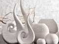 Keramika biela vaza, figúrka, svietnik