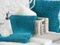 Kúpeľňové predložky SHAGGY modré a biele