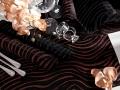 Slávnostné prestierania čierno- brozovej  a čierno - striebornej farby