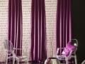 Romantická fialová záclona