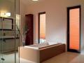 Plisse rolety ... v kúpeľni oranžové