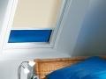 Kombinácia látkovej rolety a plisse ... modrá a krémová