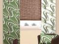 Bielo zelený záves s moderným vzorom