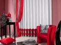 Moderný záves _ kombinácia červenej a antracitovej farby