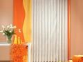 Moderný záves oranový so žltou